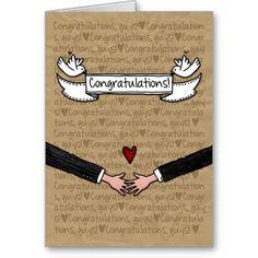 Glückwünsche   Homosexuelle Hochzeits Paare Karte