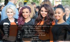 little mix fan mail adress! Ahhhhh! I totally have to try this!