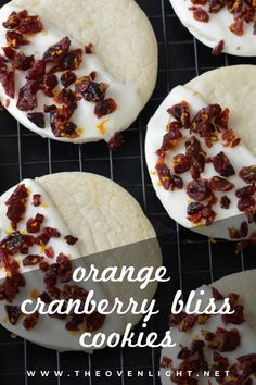 Orange Cranberry Cookies with white or dark chocolate | made gluten free. Delicious holiday cookie recipe! Super simple. #cranberry #holidaycookies #orangezest Amazing Cookie Recipes, Holiday Cookie Recipes, Holiday Cookies, Delicious Recipes, Yummy Food, Donut Recipes, Free Recipes, Dessert Recipes, Ginger Molasses Cookies