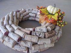 Fall cork wreath