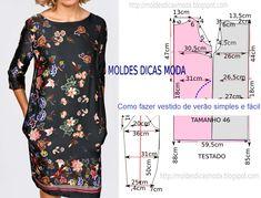 Como fazer vestido de verão simples e fácil passo a passo. Visite o site para ver mais.
