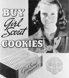 Girl Scout cookies in a candy bar! Thin Mint Nestles and. Vintage Girls, Vintage Ads, Vintage Posters, Vintage Food, Vintage Stuff, Vintage Images, Girl Scout Troop, Brownie Girl Scouts, Scout Leader