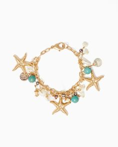 charming charlie | Sea Star Charm Bracelet | UPC: 410006299771 #charmingcharlie