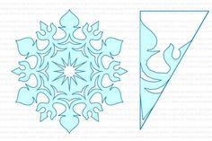 Paper Snowflake Designs, Paper Snowflake Template, Paper Snowflakes, Christmas Snowflakes, Christmas Art, Handmade Crafts, Diy And Crafts, Festa Frozen Fever, Snow Flakes Diy