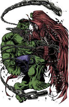 #Hulk #Fan #Art. (Hulk vs Spawn) By: PokerGambit. (THE * 5 * STÅR * ÅWARD…