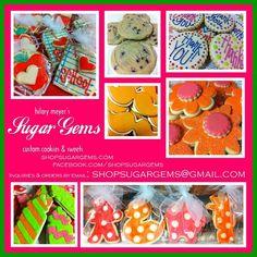 custom cookies back to school cookies baby shower cookies shopsugargems.com facebook.com/shopsugargems