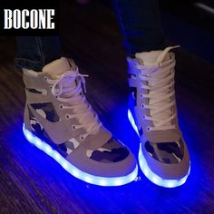 99b7ea25fb9 Led shoes men 2016 women light up shoes flat with height increasing large  size high top shoes woman unisex white black