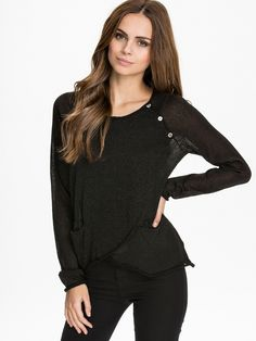 Dise Knit Cardigan - Object - Black - Jumpers & Cardigans - Clothing - Women - Nelly.com Uk