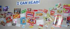 i can read bulletin board with brand names students know who to read