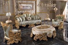 Royal Furniture, Luxury Home Furniture, Classic Furniture, Living Room Furniture, Furniture Design, Luxury Sofa, Luxury Living, Mirror Tv Stand, Bedroom Sofa
