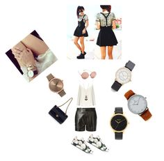 """Leather Stripe Watch..**"" by yagna ❤ liked on Polyvore featuring Nixon, Kapten & Son, Marc Jacobs, Yves Saint Laurent, Raey, Dolce&Gabbana, Kate Spade, Linda Farrow, Chanel and vintage"