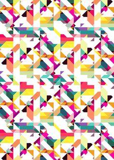 Aztec Geometric IV  by AJJ ▲ Angela Jane Johnston