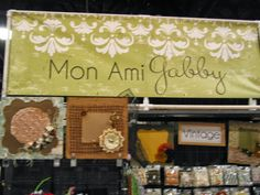 Mon Ami Gabby booth at Scrapbook Expo Fort Lauderdale 2013 - LOTS OF LAYOUTS! http://www.MonAmiGabby.com