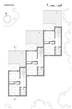 Casas CLF,Planta 2º pavimento