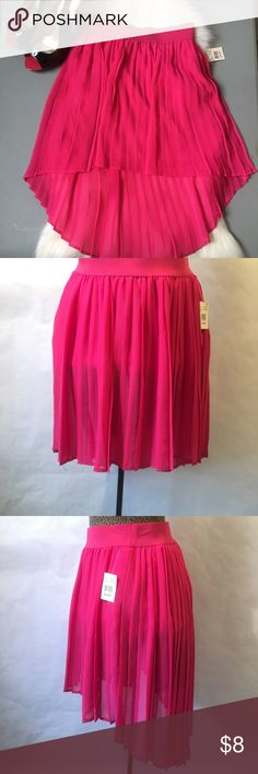 PINK PLEATED SKIRT Cute pink skirt, NWT, shoes also available Skirts