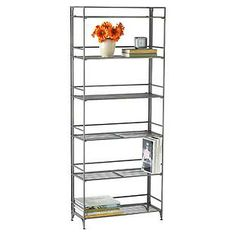 The Container Store > 6-Shelf Iron Folding Bookcase