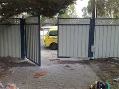 Colorbond Gate with gate motor