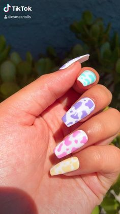 Halloween Acrylic Nails, Acrylic Nails Coffin Short, Summer Acrylic Nails, Best Acrylic Nails, Coffin Nails, Summer Nails, Spring Nails, Colored Acrylic Nails, Simple Acrylic Nails