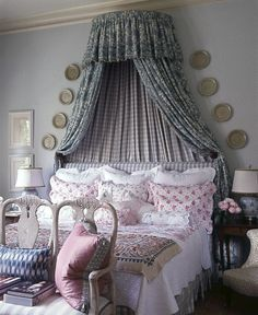 beautiful french country bedroom by cathy kincaid French Country Curtains, French Country Bedrooms, French Country Style, French Country Decorating, French Decor, Beautiful Bedrooms, Beautiful Interiors, Home Bedroom, Bedroom Decor