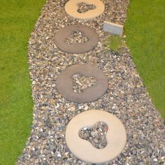 Stepping stone designs templates detroit tiger d stepping stepping stones stepping stone molds with gravel pronofoot35fo Images