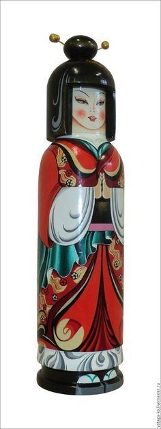 Buy damask geisha (Japan) - shtof for vodka, packing for bottles