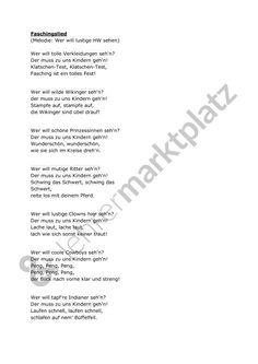 Carnival song - teaching material in the subject interdisciplinary - Fingerspiele / Kinderlieder & Zungenbrecher - Melodie Kindergarten Portfolio, Kindergarten Songs, Web Design Websites, Teaching Materials, Photo Book, Art For Kids, Carnival, Blues, About Me Blog