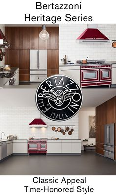 Authentically Italian. Authentically Bertazzoni. Our Heritage Series Full  Kitchen Suite Combines The Classic Appeal