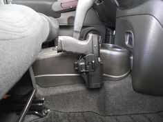 """Does anyone know if there some way to professionally mount a holster in the """"cockpit"""" of a car? I would like to holster a gun that is easily. Home Defense, Self Defense, Bug Out Vehicle, Gun Storage, Gadgets, Car Mount, Guns And Ammo, Concealed Carry, Tactical Gear"""