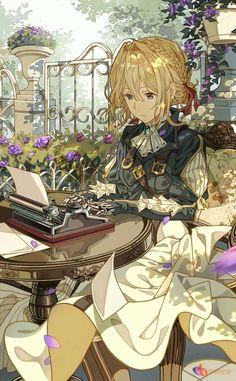 107 meilleures images du tableau violette evergarden anime art art of animation et drawings - Personnage manga fille ...