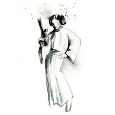 Star Wars Watercolor Art http://geekxgirls.com/article.php?ID=2841