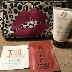 NEW WITH TAGS. Tanning Products. Tanning product samples. Never been used/opened. The bag has been used but is still in great condition. All 4 items for $6. Makeup