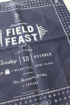 Field Feast Detail | Stitch Design Co. #type #font #design