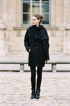 Paris street style (love her boots)