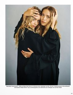 Vogue Germany Editorial November 2014 - Mary-Kate & Ashley Olsen by Bruce Weber