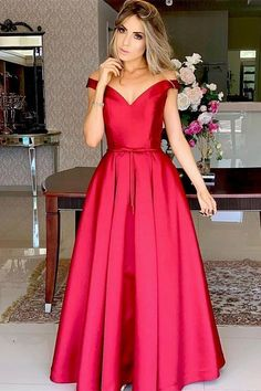 Prom Dress Beautiful, Formal Off Shoulder Red Long Satin Prom Evening Party Dress with Belt, Discover your dream prom dress. Our collection features affordable prom dresses, chiffon prom gowns, sexy formal gowns and more. Find your 2020 prom dress Elegant Prom Dresses, Dresses Uk, Wedding Party Dresses, Sexy Dresses, Long Dresses, Dress Long, Mermaid Evening Dresses, Dress Prom, Evening Gowns