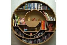 I chose this image because of the round, curved lines in this bookshelf. I like it because it is really unique and reminds me of a wave.