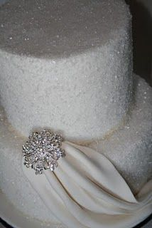 cake dusted with sugar--so sparkly!