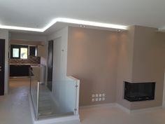 Διαμόρφωση σαλονιού- Κρυφός φωτισμός περιμετρικά της οροφής