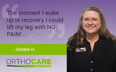 We are always proud to share recent patient #testimonials! See what Debbie H. had to say about her experience. #OrthoCARE #DFW #Healthcare