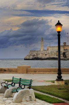 A view of el Morro fortress in Havana Bay entrance