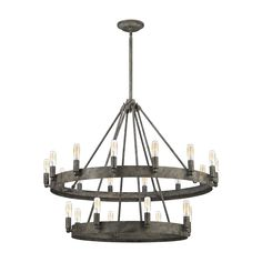 Check CHANDELIER ELK Lighting Chandelier, One Size Rust Ceiling ideas This series exudes a refined, Mediterranean design made with a solid iron ring that anchors the lights around its parame. Entryway Chandelier, Globe Chandelier, Chandelier Shades, Chandelier Lighting, Wheel Chandelier, Chandelier Ideas, Foyer, Elk Lighting, Rustic Lighting