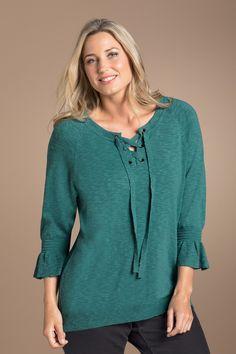 ebf662629c4 Sara Lace Sleeve Peasant Top