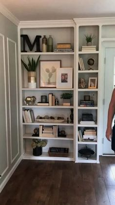 Bookshelf Styling by The Chic(ish) Chick – Bookshelf Decor Decorating Bookshelves, Bookshelf Styling, Small Bookshelf, Painted Bookshelves, Modern Bookshelf, Bookshelf Design, Bookshelf In Kitchen, Books On Shelves, How To Decorate Bookshelves