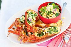 Barbecued lobster - delicious.