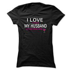 I Love My Husband (Wine) in Ladies Large