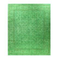 Authentic Pakistani Mehran in Green, 8' x 9.8'