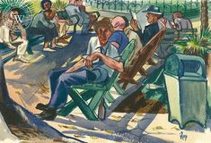 Westlake Park, watercolor art by Edward Reep – California Watercolor Watercolor Logo, Watercolor Artists, Watercolor Paper, Watercolor Paintings, California Art, West Lake, Artwork Prints, Giclee Print, Park