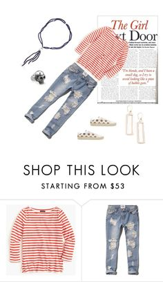 """""""The girl next door"""" by kateboston on Polyvore featuring J.Crew, Abercrombie & Fitch and Yves Saint Laurent"""