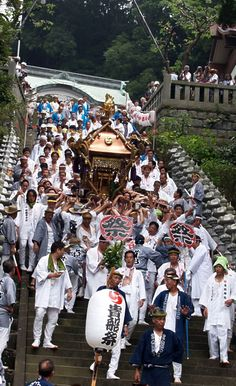 Kibune water fastival, port in Manazuru Kanagawa Japan -the one of the three most famous sea festivals in Japan.  真鶴貴船祭り