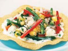 Crab Salad Tostada recipe